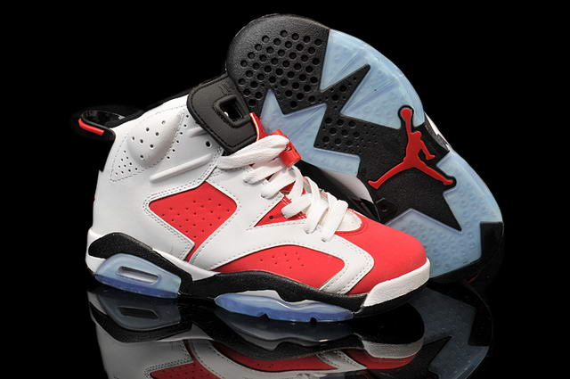 AIR JORDAN 6 Carmine GS Shoes Red/white black